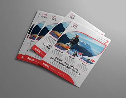 Travel Flyer Design Template (FREE)