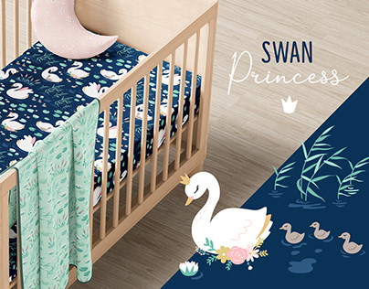 Swan Princess - Vector Pattern & Prints Collection