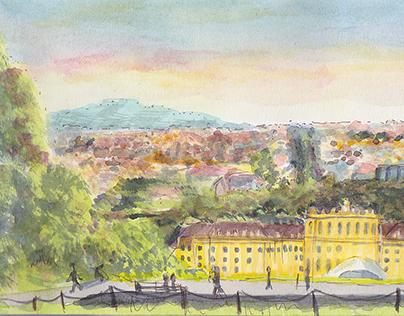 Urban Sketching: Schönbrunn Palace & Gardens