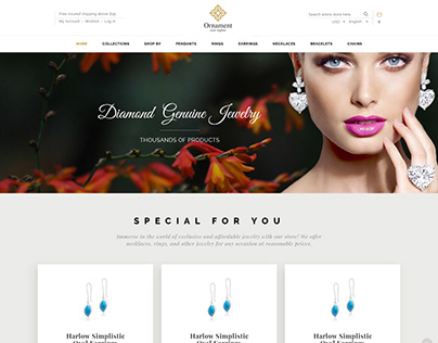 Gems & Jewelry website ui & ux design