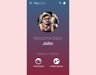 Myspace UI app Redesign Concept