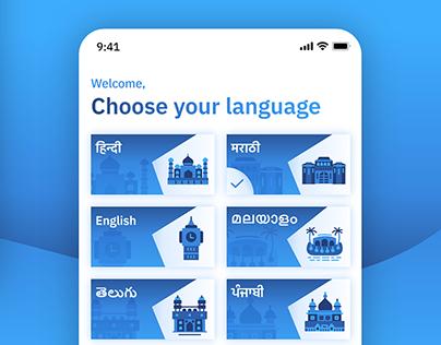 Indian Regional Language Illustrations