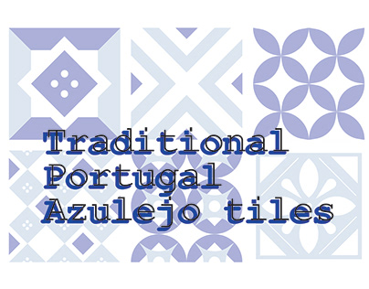 Traditional Portugal Azulejo tiles