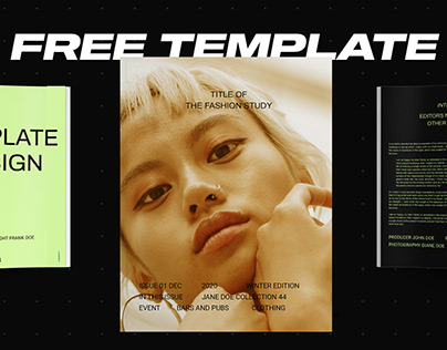 Free InDesign Template - Fashion Study