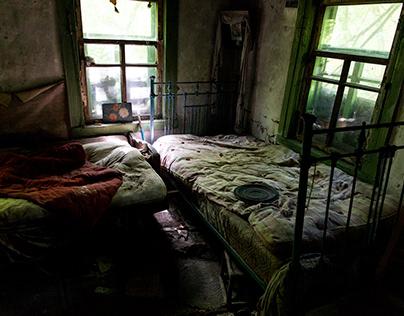 Abandoned Village near Chernobyl Town