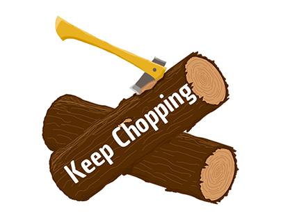 UI elements - Keep chopping indie game