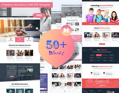 Modern Education & LMS Landing Page