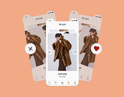 Across - fashion app design