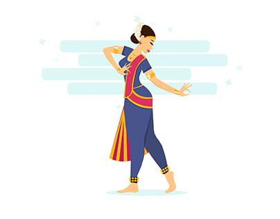 Illusration : Female Dancer