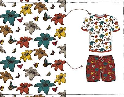 Diseño textil floral H