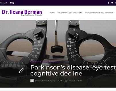 Parkinson's disease, eye test & cognitive decline