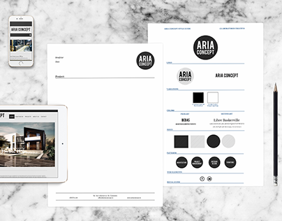 Aria Concept Branding and Visual Identity