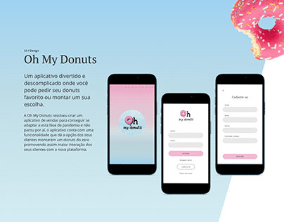 Oh My Donuts - Projeto UI/UX Design mobile