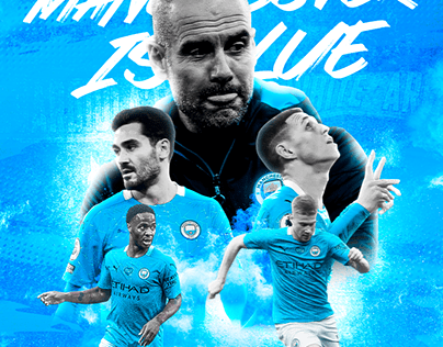 Manchester is Blue (Poster of ManCity)