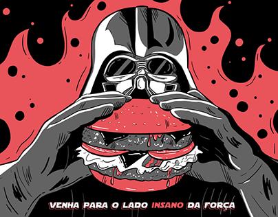 Darth Vader hambúrguer