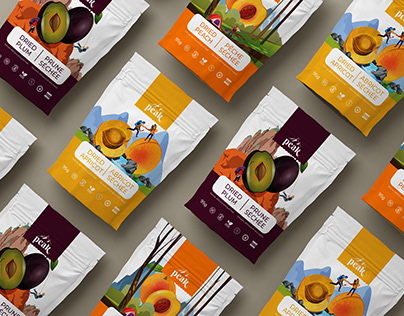 PEAK dried fruits packaging and logo design
