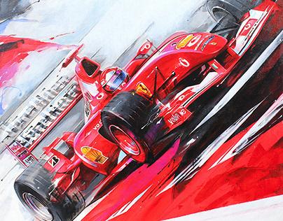 """Triptych """"Formula Ferrari"""""""