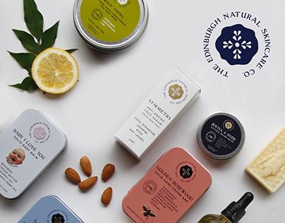 The Edinburgh Natural Skincare Company BRAND IDENTITY