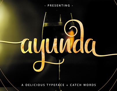 Ayunda Typeface + Catchwords by Fittingline Type Supply