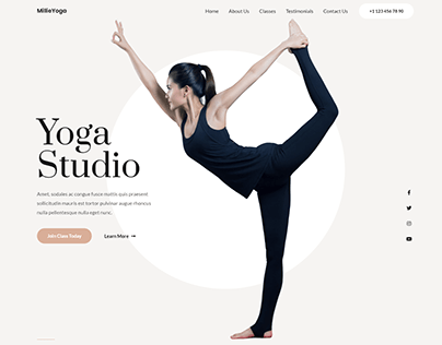 Yoga-Studio website