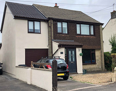 a compact two storey side extension