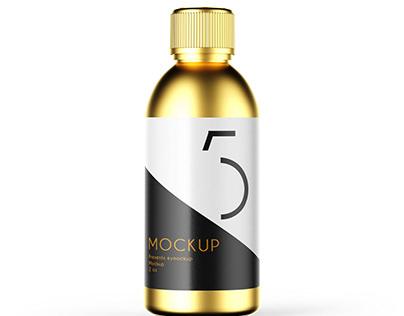 Golden Syrup Bottle Label Mockup
