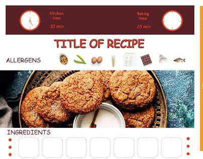 Examples of design recipes. TEMPLATE