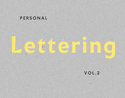 Personal Lettering Vol. 2