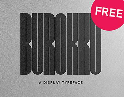 FREE | Burokku Display Typeface