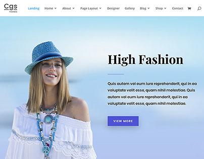 Fashion Template at Wordpress.org