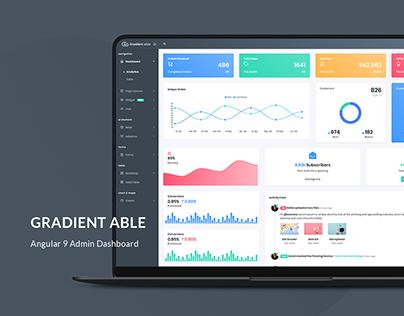 Gradient Able Angular 9 Admin Dashboard