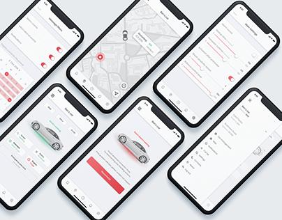UI/UX Design for the Car Security App