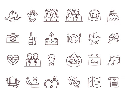 Free Vector Wedding Icons