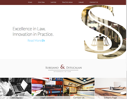 Subejano & Ditucalan Law Firm Website