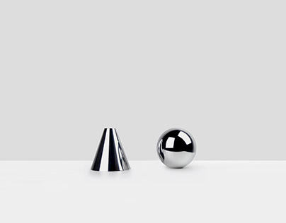A + O Candleholder by Minimalux