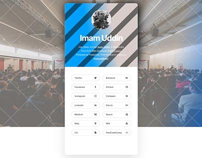 Imam Uddin | Profile Card | vCard