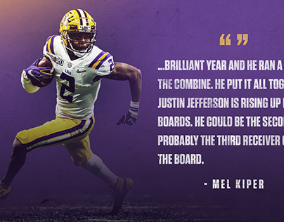Justin Jefferson NFL Draft Graphic