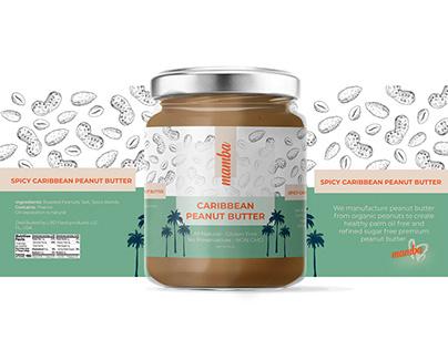 Mamba - Caribberan Peanut Butter | label design