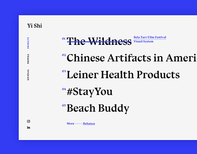 Yi Shi Portfolio