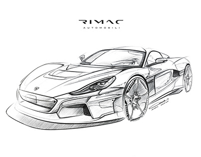 Rimac C_Two (2020) Official Press Sketches