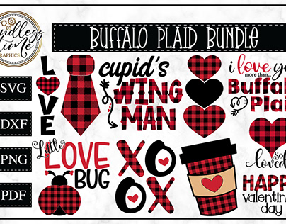 Buffalo Plaid Valentine's Day Bundle