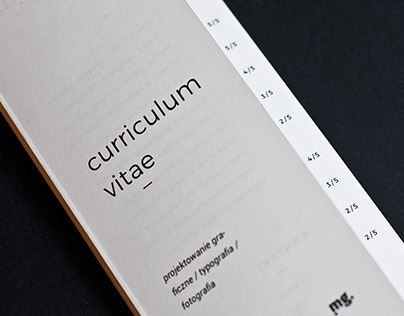 CV folder (mailer) - Quad'fold brochure - Self prom.