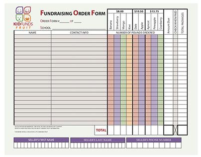 Fundraising Order Form