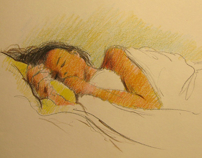 Sleeping. Quick sketches