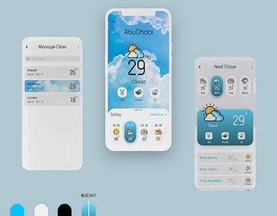 UI design for weather application