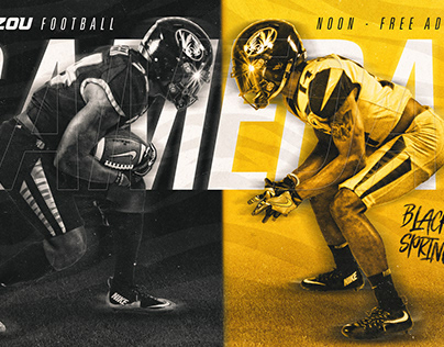 Mizzou Football Black & Gold Spring Game Graphics