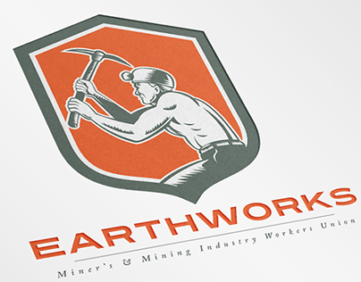 EarthWorks Mining Industry Workers Union Logo