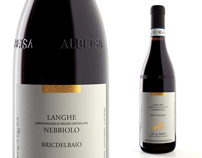 Packshot Nebbiolo Wine