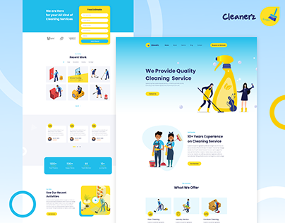 Cleanerz | Landing page