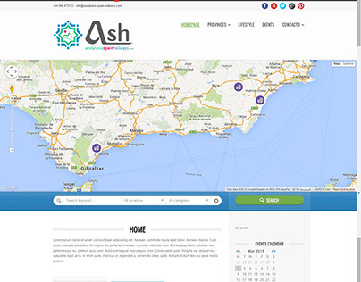 Geo positioning andalusia tourism  english guide by SWM